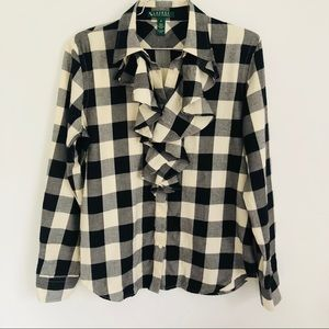 Lauren Ralph Lauren buffalo check button down